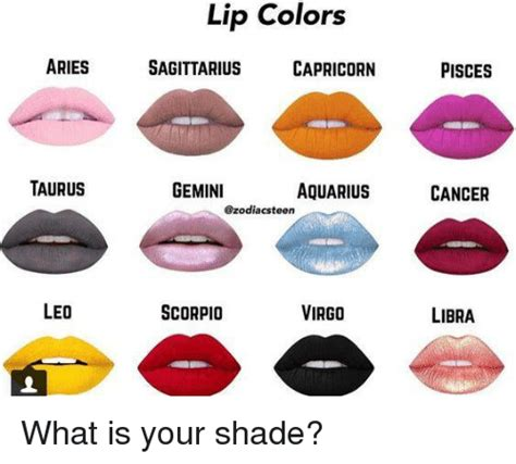 taurus colors lip colors aries sagittarius capricorn pisces taurus
