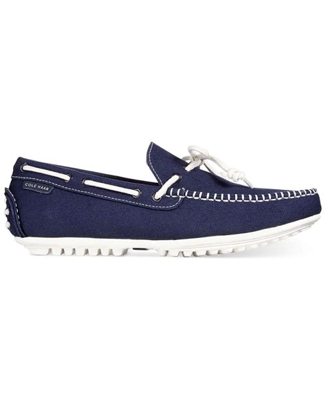 cole haan boat shoes cole haan grant escape oxford boat shoes in blue for men