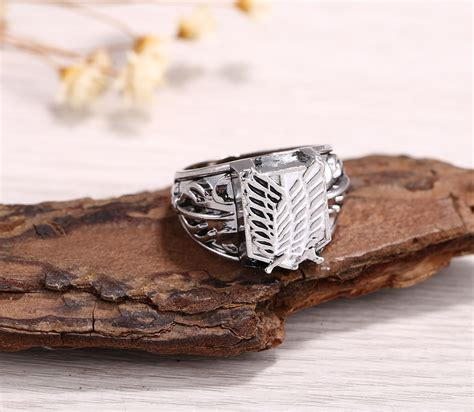 high quality jewelry attack on titan metal high quality jewelry rings free