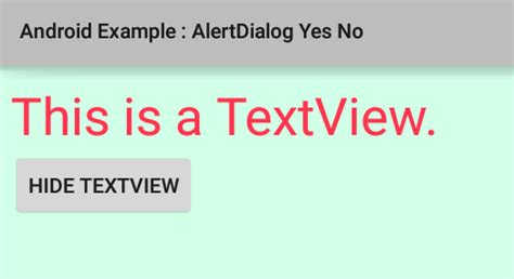 Android Yes No Dialog by How To Create A Yes No Alertdialog In Android