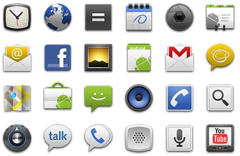 icon design standards icon design guidelines android 2 0 android developers