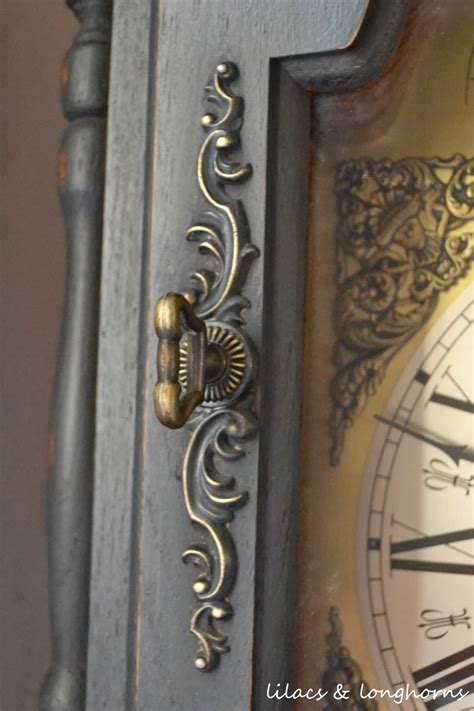 chalk paint grandfather clock a grandfather clock makeover and a history lilacs