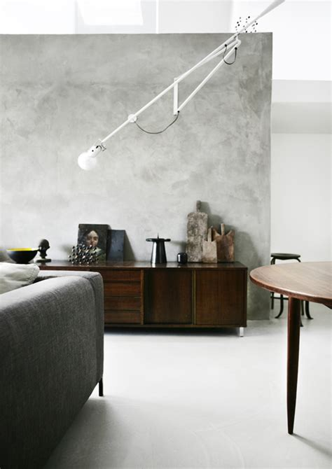 pareti soggiorno pareti effetto cemento in soggiorno design