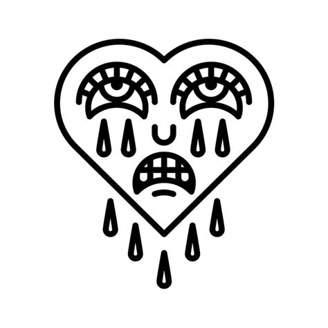 crying heart tattoo designs 7 best images on