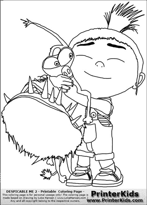agnes colouring pages