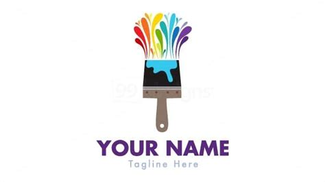 design logo in paint 20 stylish paint brush logo designs freakify com