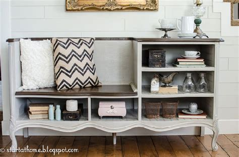 dresser turned bench show and tell link party time sugar bee crafts