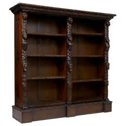 Georgian Bookcase 19th Century Antique Carved Oak Bookcase At 1stdibs