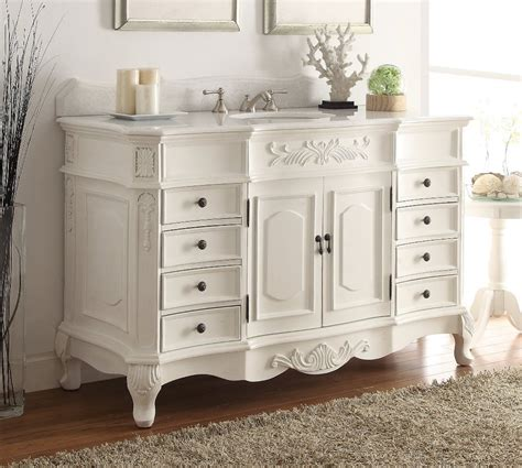 adelina 56 inch old antique white bathroom vanity sink