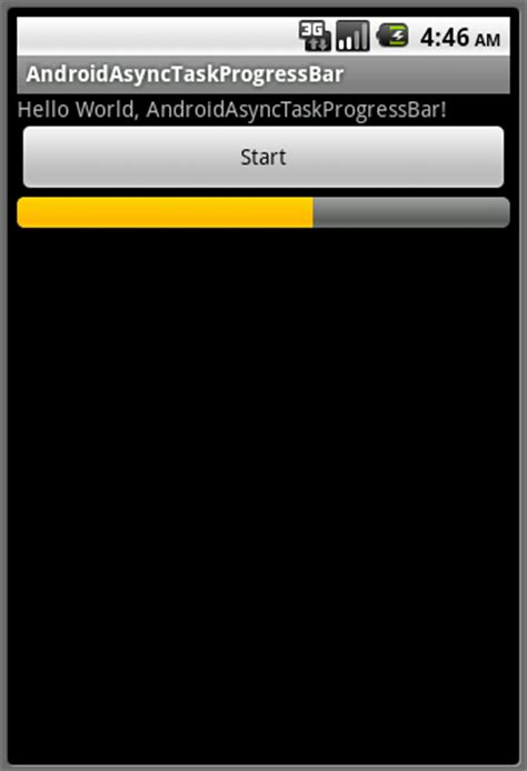 android progress bar android er progressbar running in asynctask