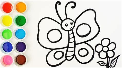 como imprimir imagenes sin fondo c 243 mo dibujar y colorear una mariposa videos para ni 241 os