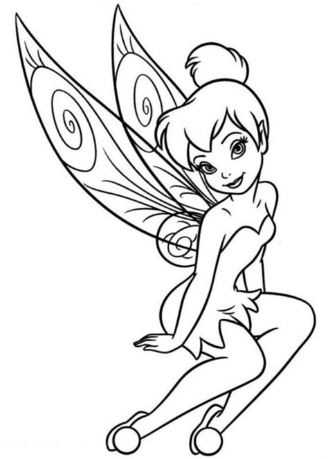 disney tinkerbell coloring pages for girls coloring page