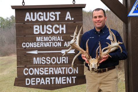 Missouri Records Near Record Non Typical Deer Antlers Discovered Last Week On Busch Conservation Area