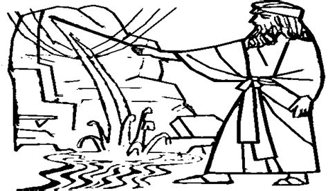 bible coloring page water from the rock water from the rock moses and the water from the rock