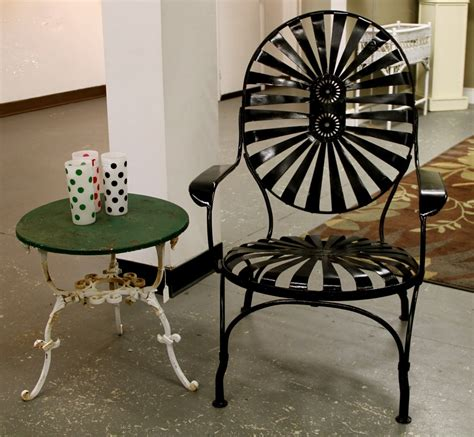 Vintage Patio Furniture Metal Found In Ithaca 187 Fabulous French Pinwheel Patio Chair