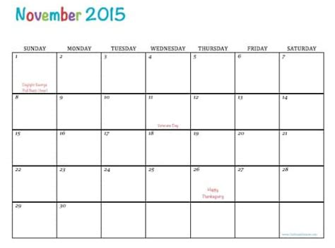 free printable monthly calendars november 2015 free printable calendar november 2015
