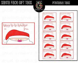 6 best images of printable santa claus gift tags free