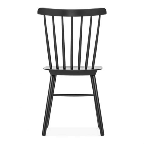 Black Wooden Dining Chairs White Or Black Wood Dining Side Chair By Cielshop Notonthehighstreet