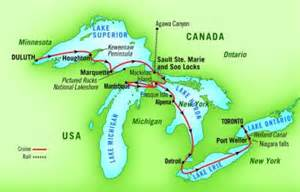 america great lakes on map