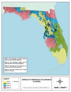 florida geological survey sinkhole map areas of sinkhole occurrence florida 2008