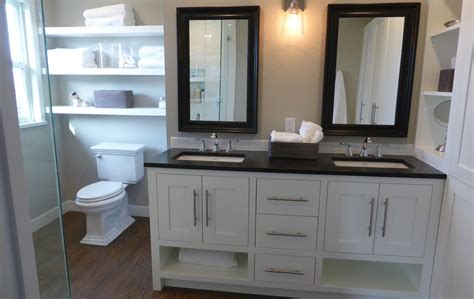 Furniture Style Vanity   Custom White Furniture Style Vanity