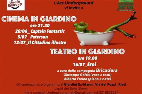 cinema giardino cinema in giardino cineforum nel cortile dell ex manni