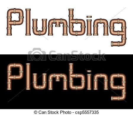 Plumbing Word by Stock Illustrations Of Plumbing Copper Steel Pipes This