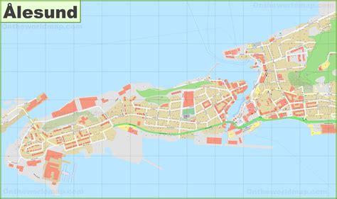 detailed map  alesund