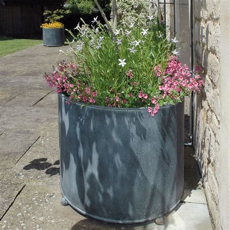 Garden Large Planters by Garden Requisites Steel Planters Troughs