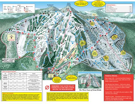 Great Divide by Great Divide Plan Des Pistes De Ski Great Divide