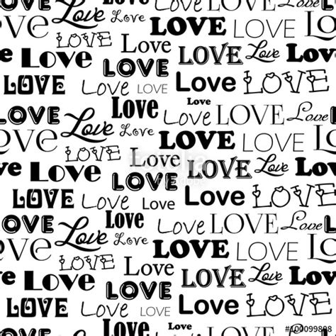 love pattern words quot vector seamless pattern with word love isolated on white