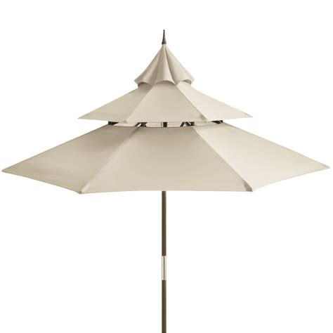 Pier One Patio Umbrellas Pagoda 9 Sand Wood Umbrella Pier 1 Imports