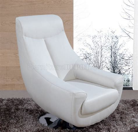Lori White Leather Swivel Chair 75 Chair Design Swivel Chair White