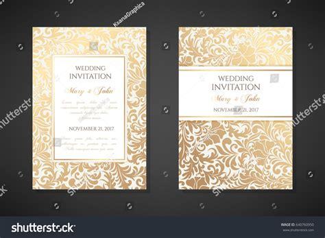 Wedding Album Cover Design Vector by Vintage Wedding Invitation Templates Cover Design Stock