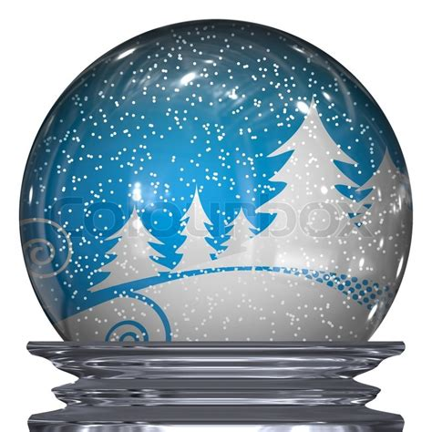 winter scene snow globes 3d illustration of a realistic snow globe with a winter inside stock photo colourbox