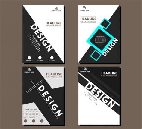 brochure cover design templates modern style vectors stock