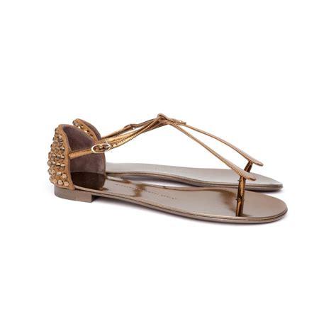 giuseppe zanotti gold sandals giuseppe zanotti heel sandals in gold bronze lyst