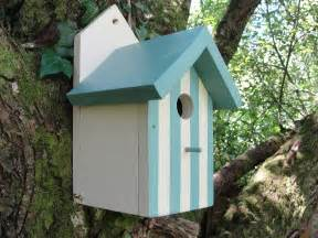 handcrafted hut bird house by siop gardd