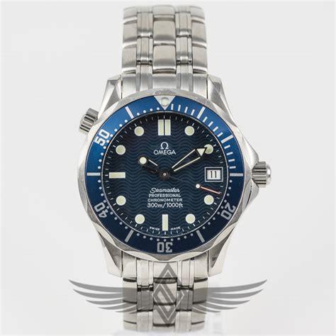 Omega Seamaster 300m 38mm Mid Size Blue Dial Bezel Stainless Steel Case Bracelet Dive Watch 212
