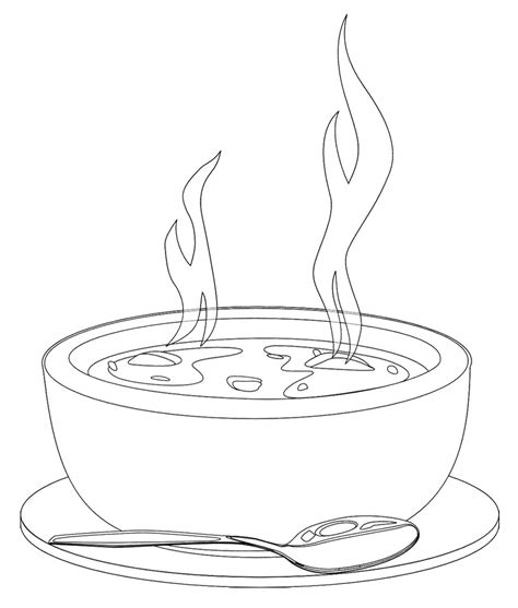 soup kitchen coloring page a bowl of hot soup coloring page coloring pages mandela