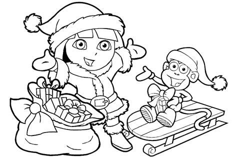 nick jr dora coloring pages az coloring pages