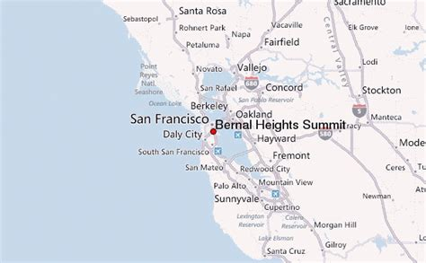 san francisco map bernal heights bernal heights summit mountain information