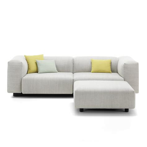 sofa 2 sitzer mit ottomane soft modular 2 seater sofa from vitra in the connox shop