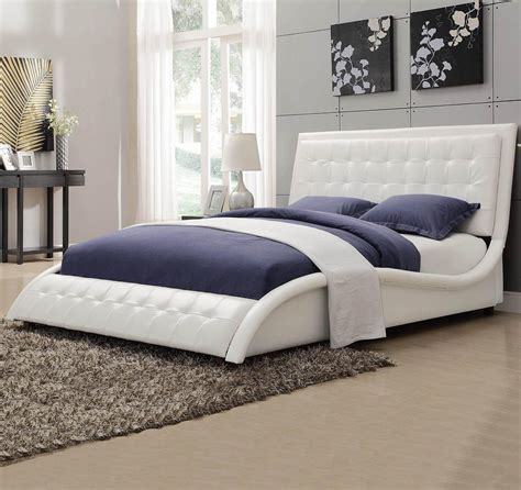 bed headboard footboard tully white bed with button tufting headboard footboard beds coa 300372q 2