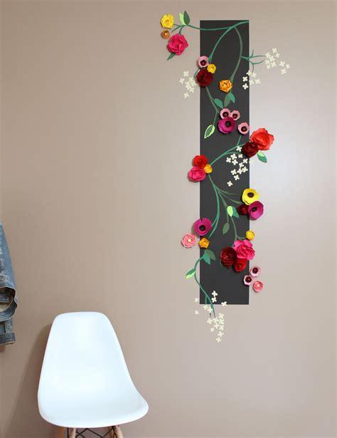 tapisserie relief des fleurs en relief sur mon mur