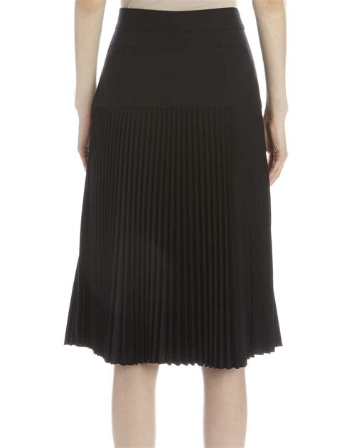suno pleated midi skirt in black lyst