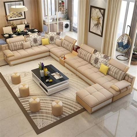 luxury contemprory  shape sofa modular sectional leather lounge   seat  chaise