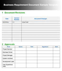 Business Requirement Templates by 11 Business Requirements Documents Free Premium