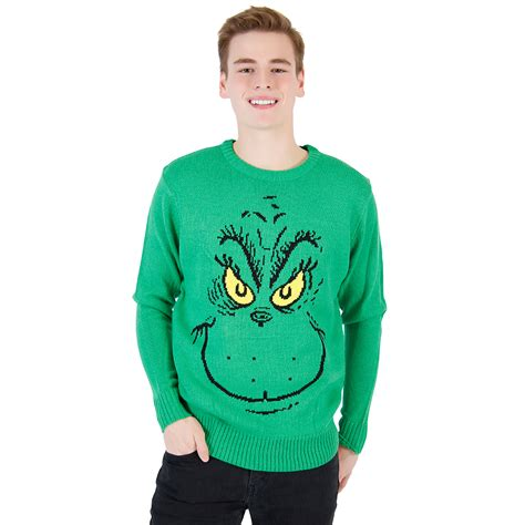 grinch sweater grinch face dr seuss christmas sweater