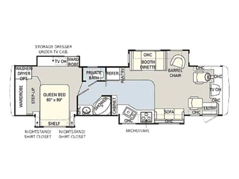 monaco rv floor plans 2005 monaco cayman 36pdq photos details brochure floorplan